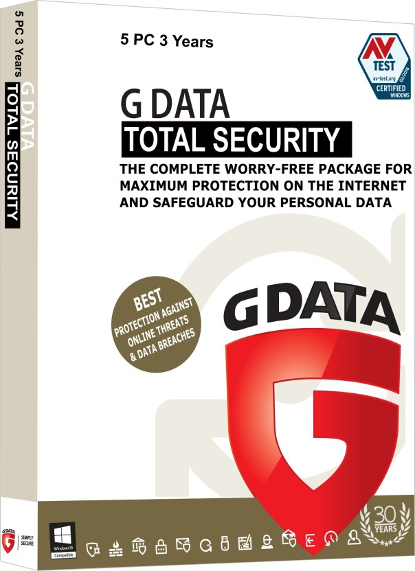 G Data Total Security 5 Users 3 Years