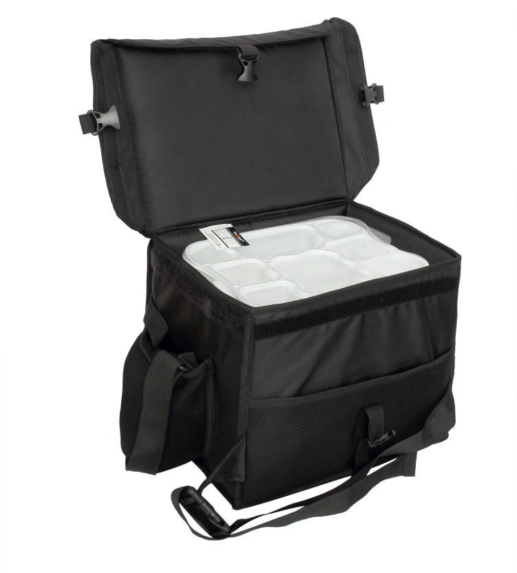 TRIAGE Classic Insulated Meal Delivery Bag (Black) 24 L Backpack