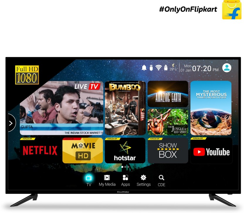 CloudWalker 127cm (50 inch) Full HD LED Smart TV