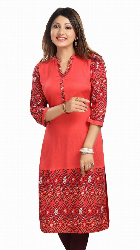 Meher Impex Solid Women Straight Kurta