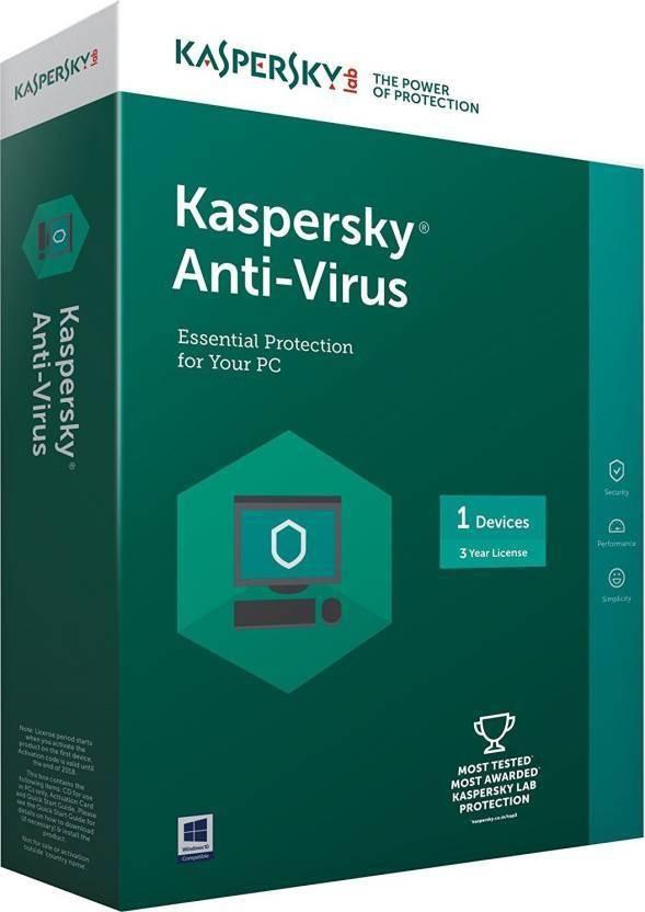 KASPERSKY kaspersky Antivirus Software 2017 1 Pc 3Year