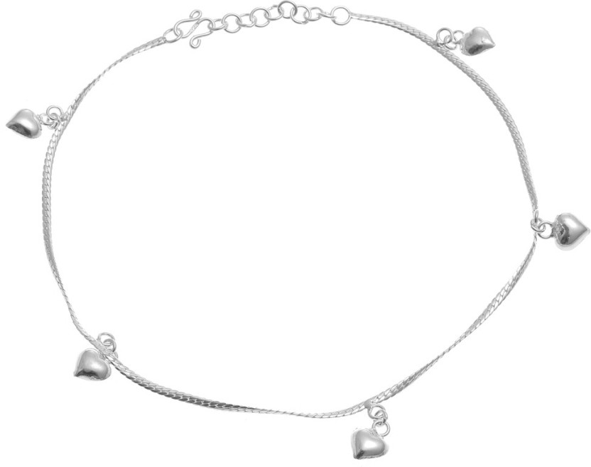 Vaibhav Anklet For Girls Daily Wear In 925 Silver Sterling Silver Anklet
