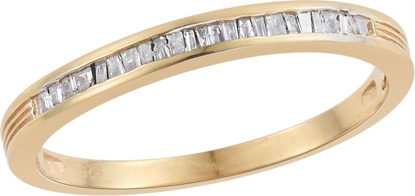 Vaibhav Vaibhav Band Ring in 0.23 ct Diamond For Girls in 925 Sterling Silver With 18K Gold Plating US Size 8 Sterling Silver Diamond 18K Yellow Gold Plated Ring