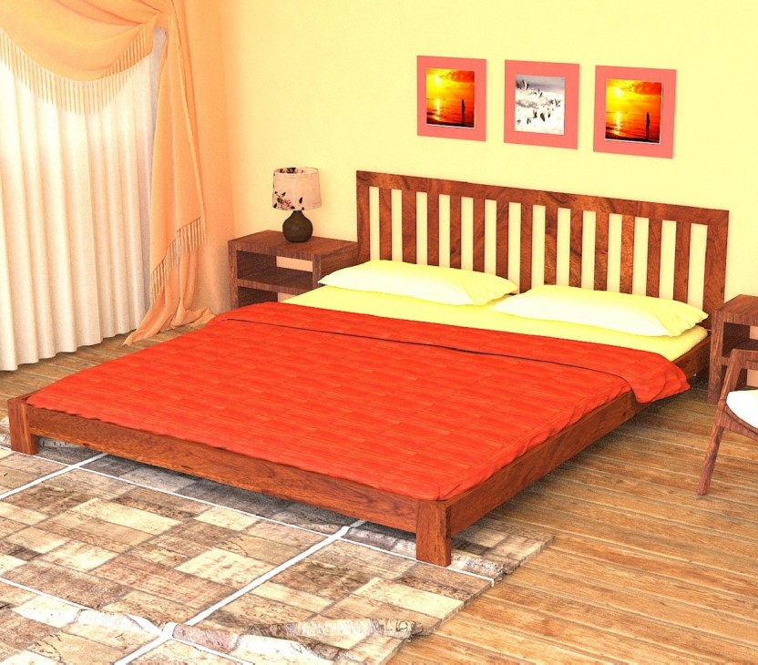 Home Edge Fultz Solid Wood Queen Bed