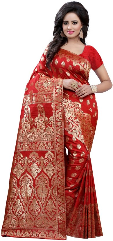 The Fashion Outlets Self Design, Plain Kanjivaram Cotton, Silk Saree
