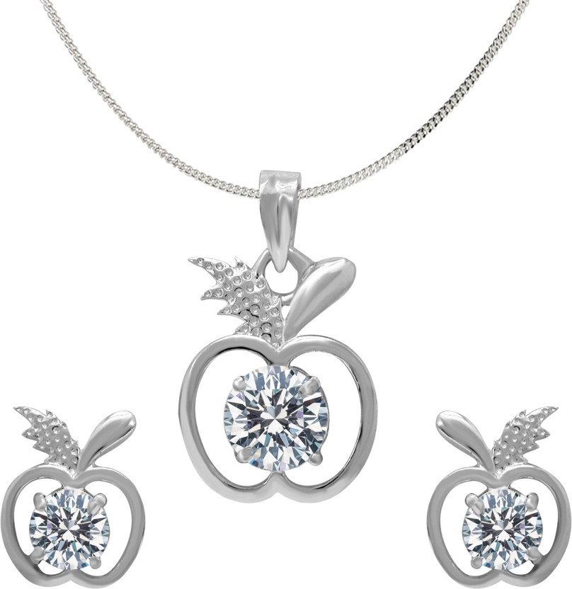 Love N Legacy 18K White Gold Swarovski Crystal Sterling Silver