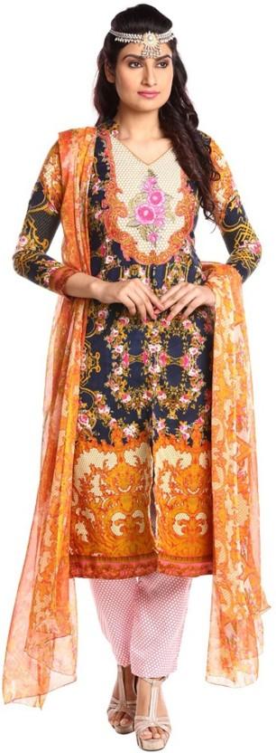Active Pashmina Printed Dress/Top Material