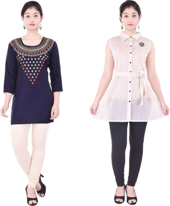 Desier Casual Embroidered, Solid Women Kurti
