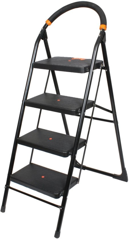 Truphe Heavy Duty Anti Skid Folding Ladder with Wide Steps ( 7 Years Warranty) 4 Steps Iron Ladder