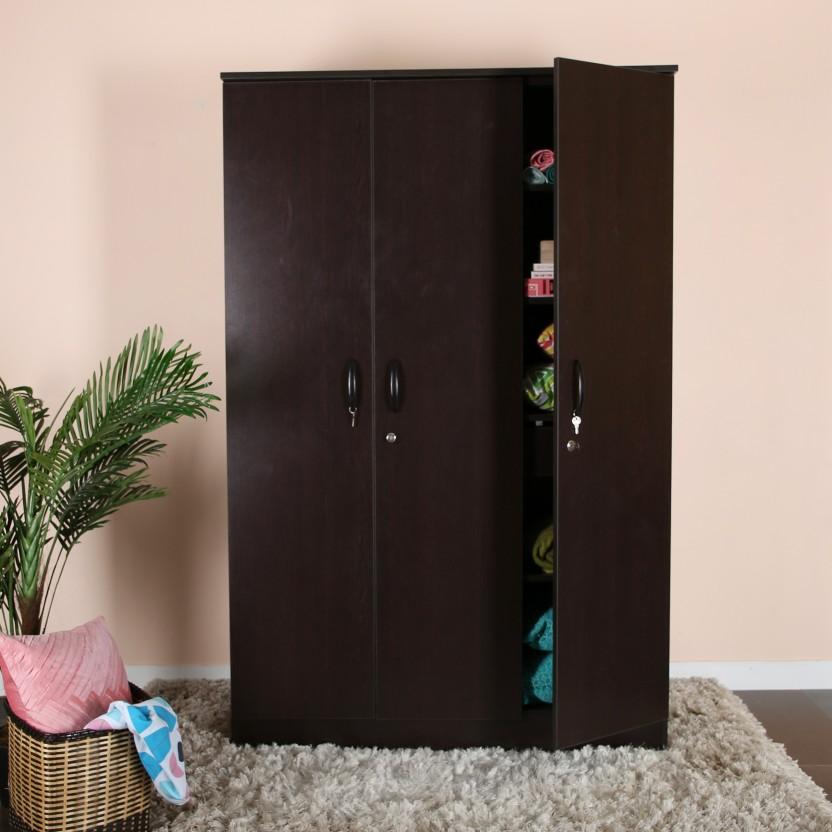 Home Full Jerry Engineered Wood 3 Door Wardrobe