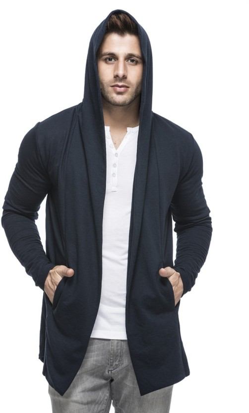 Creative India Exports Men No Closure Solid Cardigan