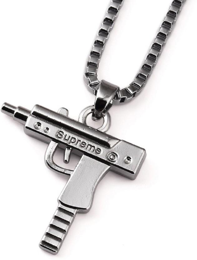 Silverstoli Silverstoli HIP HOP GUN-Shape Necklace Pendant For Men