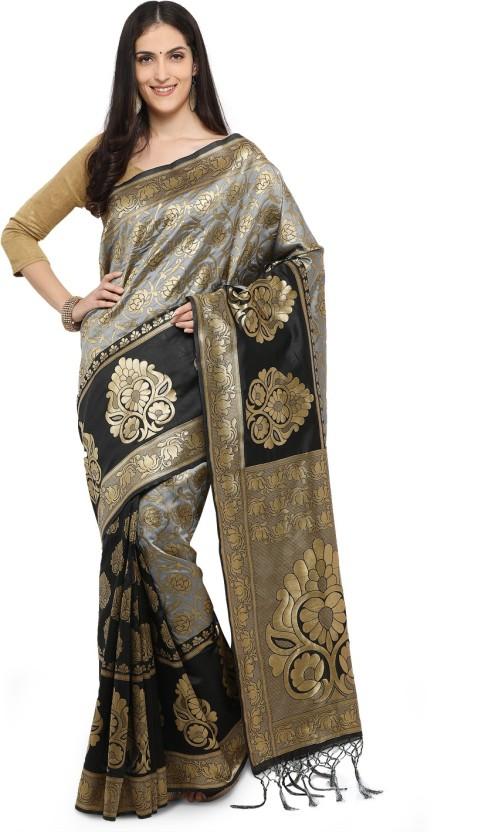 Yadu Nandan Fashion Woven Kanjivaram Cotton Silk Saree