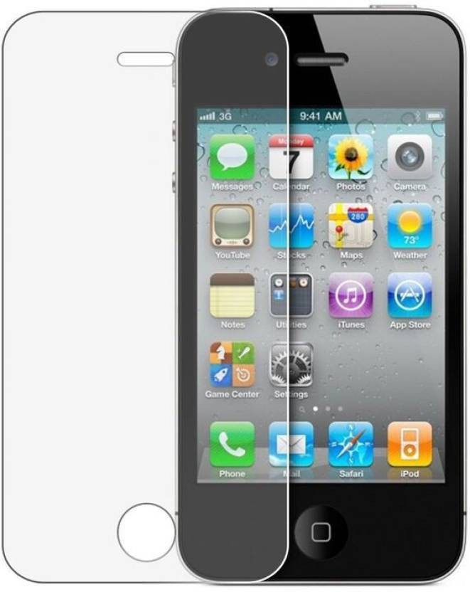 MudShi Tempered Glass Guard for Front & Back Protector for Apple iPhone 4s
