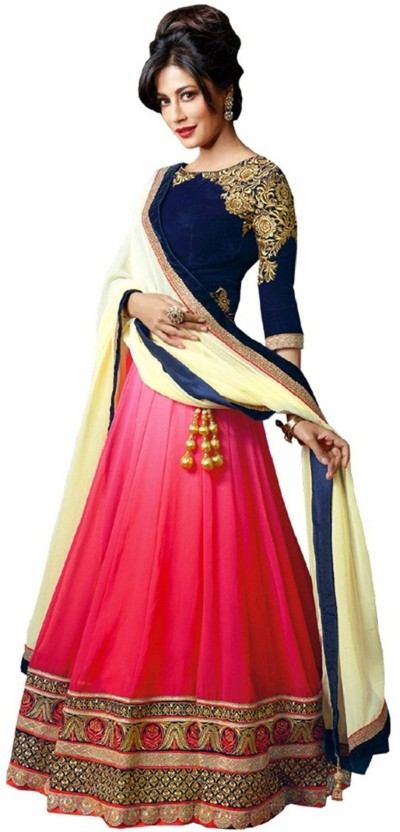 Aarya Fashion Net Embroidered Salwar Suit Material