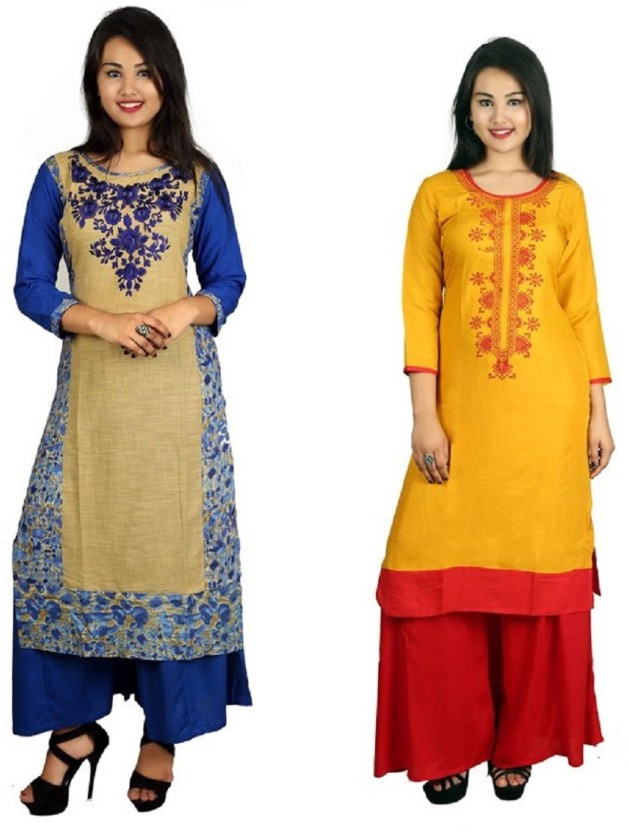 KNOTS & THREADS Casual Embroidered Women