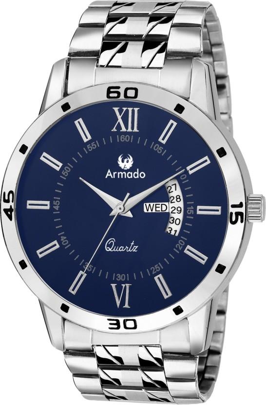 Armado AR-101-BLU Classy Date n Day Watch  - For Men