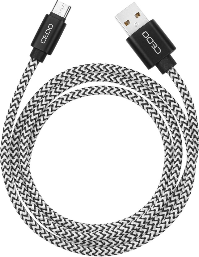CEDO Branded 1m long Nylon Braided Original Certified Tough Type C USB Data Cable Compatible for OnePlus 5 /3 /2, Nexus 5X/ 6P, Le Eco Le 2, new MacBook, ChromeBook Pixel, Gionee S6, Meizu PRO 5, Xiaomi Mi 5, Le 2 Pro, LeEco Le Max 2, Nokia N1 Tablet, Galaxy S8, S8+ and many more Type C devices, Super fast charging up to 2.4Amps. USB C Type Cable