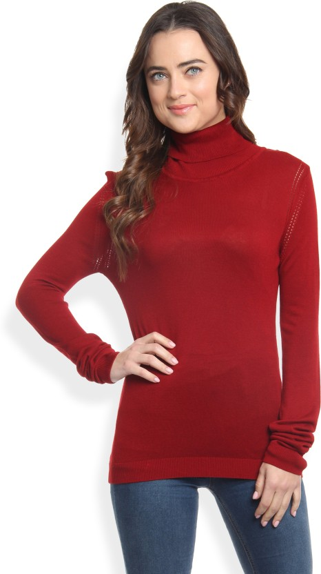 Allen Solly Solid Turtle Neck Casual Women