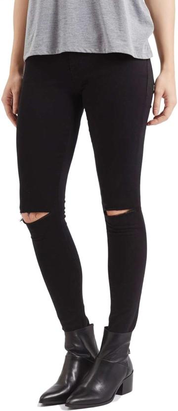 Ansh Fashion Wear Regular Women Black Jeans