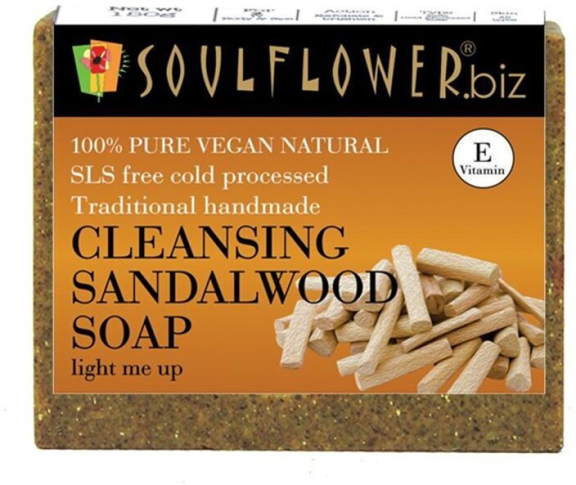 Soulflower Cleansing Sandalwood soap