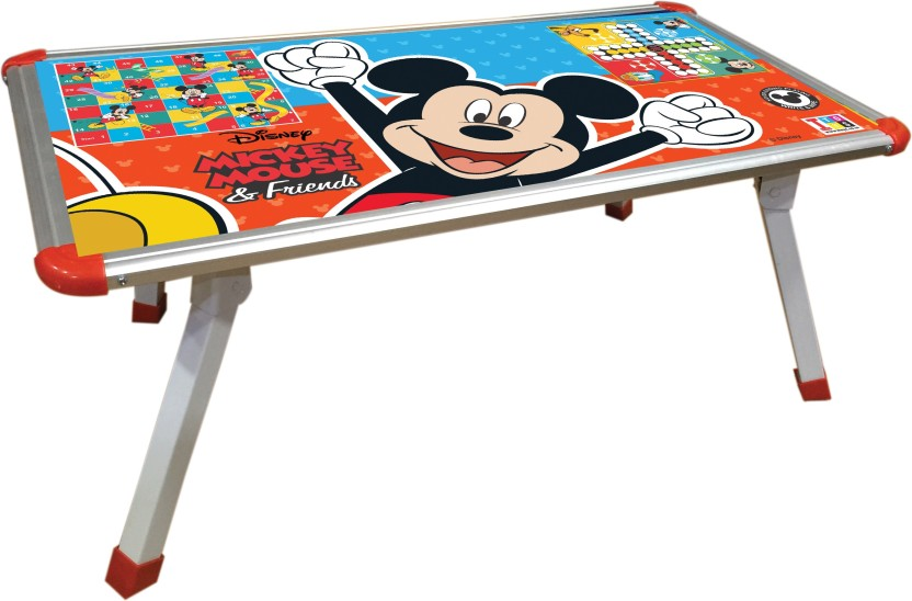 Disney Mickey Mouse premium laptop cum study foldable table for kids Packed in box for easy storage Premium quality certified as EN 71 European standard safe for child Game table for kids Mind development table Multi colour Includes foldable table Board Game Board Game