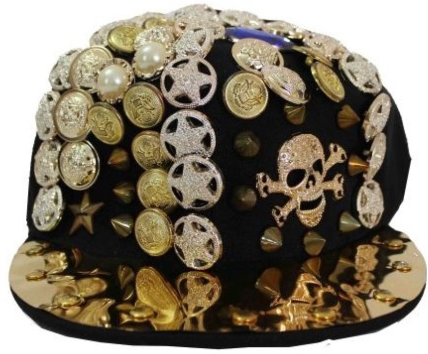 TakeInCart Solid 3D Studded Button Snapback Cap
