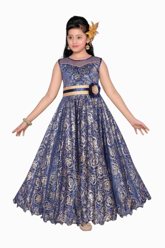 Adiva Girls Maxi/Full Length Party Dress