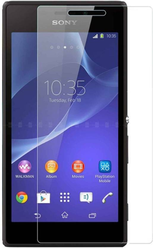 Bizone Tempered Glass Guard for Sony Xperia M2 Dual