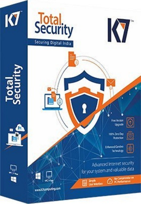 K7 Total Security Antivirus 3 PC 1 Year (One Installation CD)