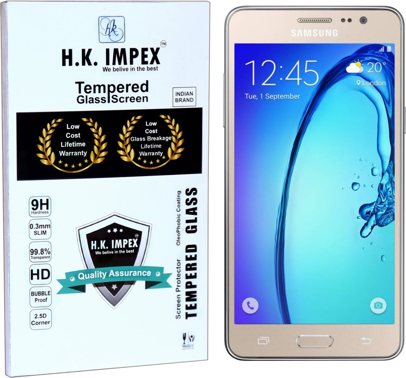 H.K.Impex Tempered Glass Guard for SAMSUNG Galaxy J5, samsung galaxy j5 s