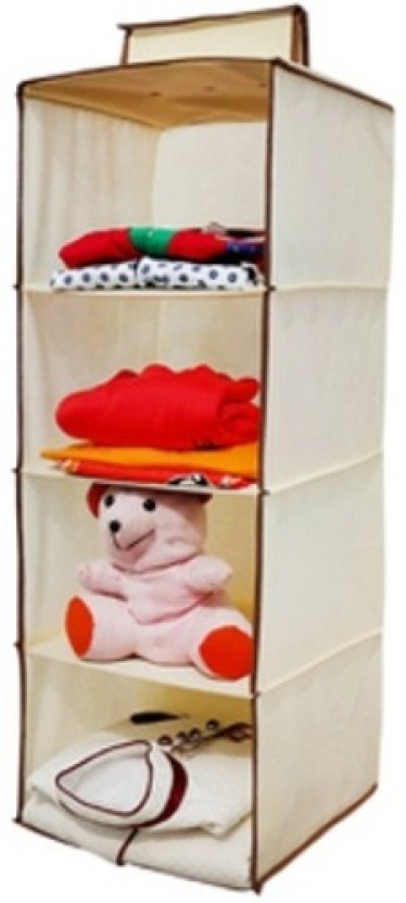 Homecute HCHWRCREAM Rayon Collapsible Wardrobe