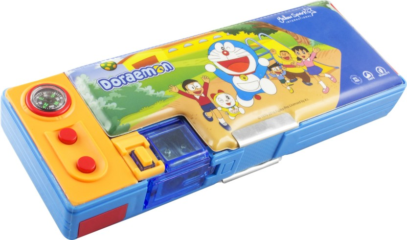 Doraemon Magnetic Pencil box Original Pose With Vibrant Colours from the Animation Series of Doraemon Art Plastic Pencil Box