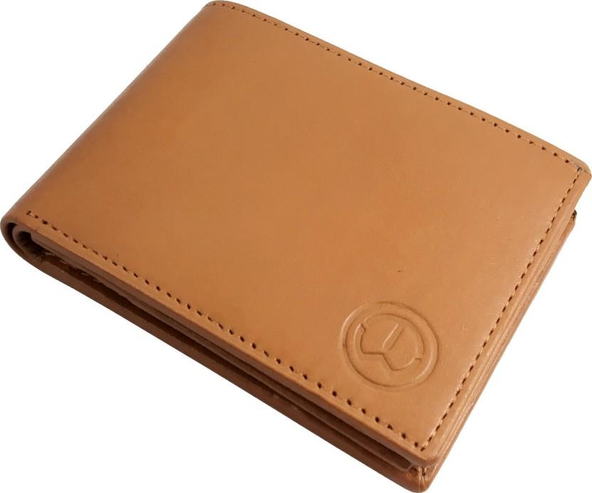 IzcorpIndia Men Tan Genuine Leather Wallet