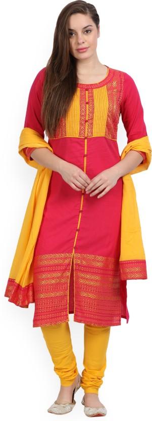 Rudra Fashion Satin Embroidered Semi-stitched Salwar Suit Dupatta Material