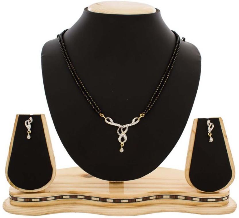 Artius jewel american daimond mangalsutra Alloy Mangalsutra