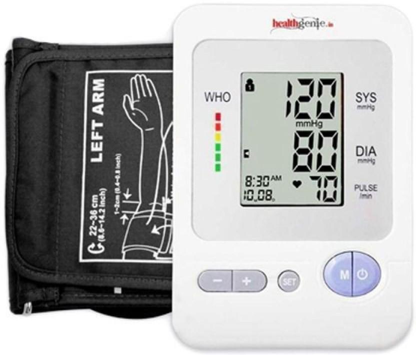 Healthgenie HG-12790 Digital Upper Arm Blood Pressure Monitor BPM02 Fully Automatic | Irregular Heartbeat Detector | Batteries Included | 2 Year Warranty Bp Monitor
