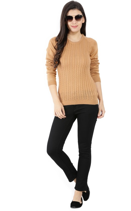 United Colors of Benetton Self Design Round Neck Casual Women