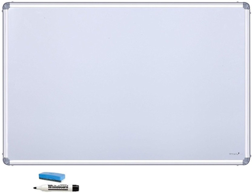 cognant Non Magnetic 1.5 foot * 1 foot White Board Whiteboards and Duster Combos