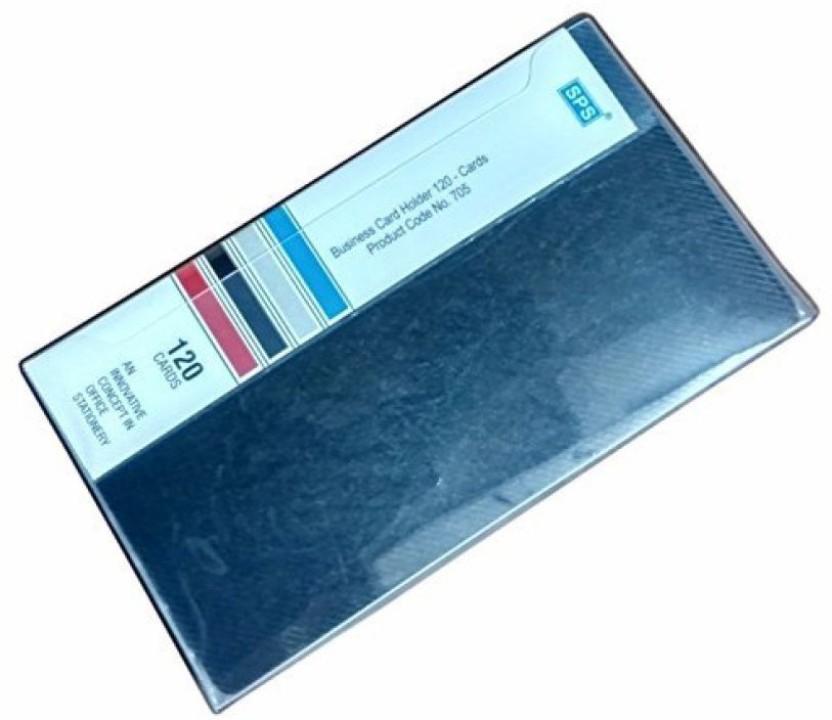 SPS Plastic Visiting Card Holder, 120 Cards Black (Pack Of 2)