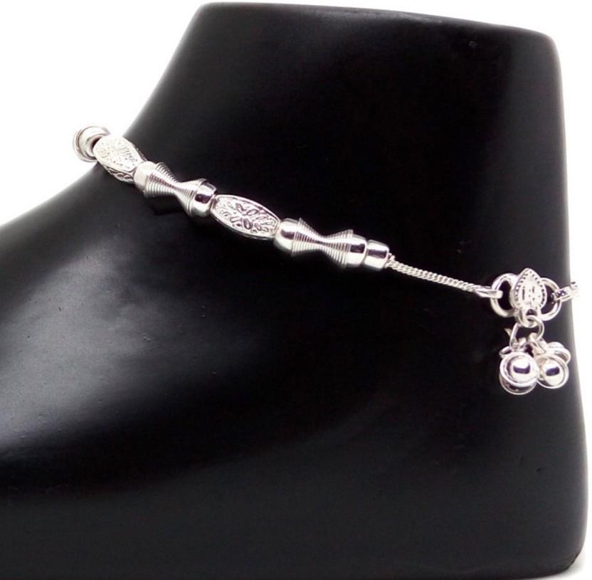 Jewelszone Special Elegant Anklet Set Sterling Silver, Alloy, Brass, Metal, Bronze Anklet