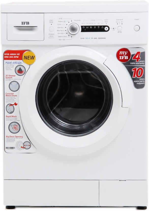 IFB 6 kg Fully Automatic Front Load Washing Machine White