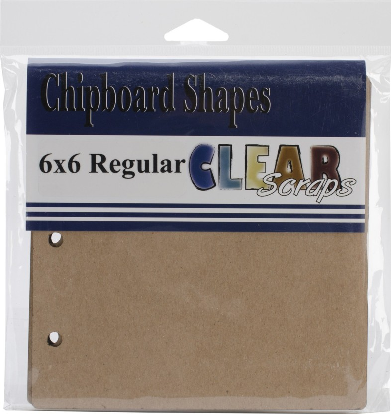 """Clear Scraps Regular Chipboard Album 6\""""X6\"""" - 5 Pages & No Rings"""