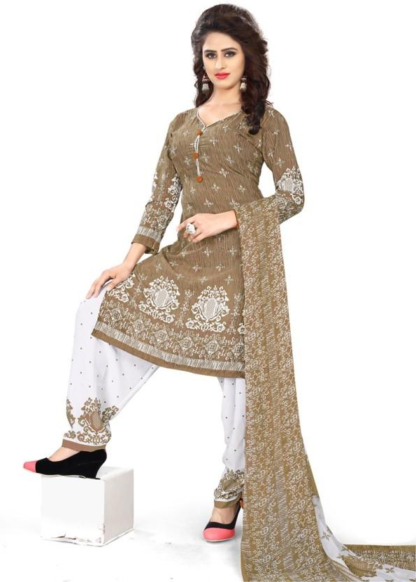 Saara Crepe Paisley, Printed Salwar Suit Dupatta Material