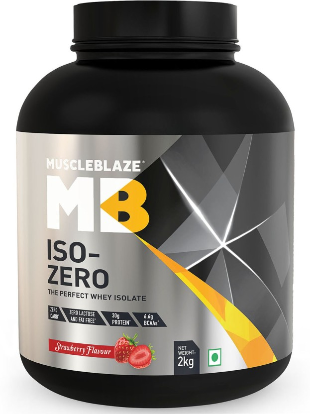 MuscleBlaze Zero Carb Iso-Zero Pure Whey Isolate Whey Protein