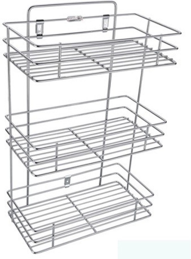 SARANGWARE Three Shelf Kitchen Racks Stainless Steel Kitchen Rack