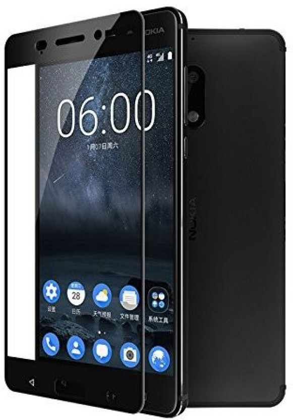 E-benzer Tempered Glass Guard for Nokia N6 Black color screen guard/tempered glass..
