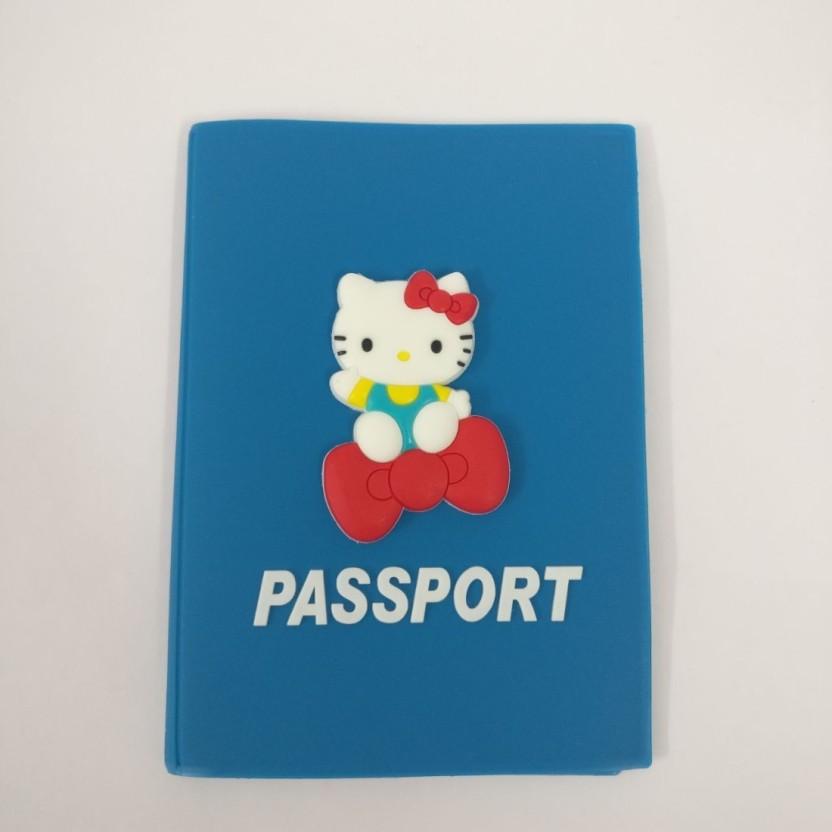 Shopkooky Hello Kitty Printed Cartoon Passport/Card Holder for kids - Best for Use, Gift, Return Gift - Set of 1