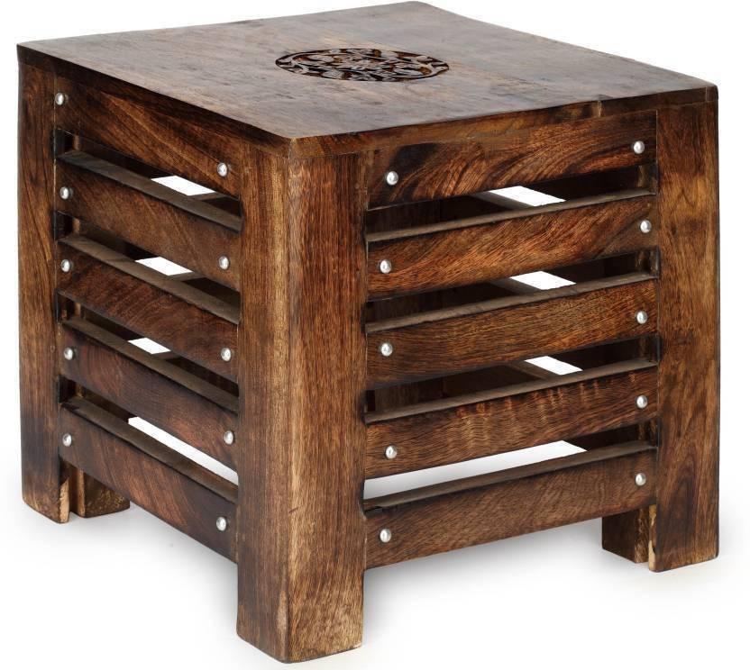 CraftOnline balcony wood stool Living & Bedroom Stool