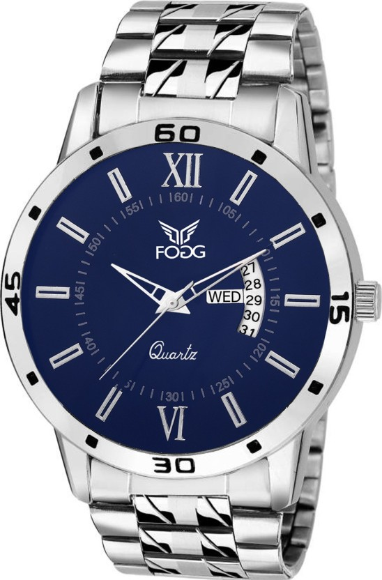 Fogg 2047-BL Day and Date Watch  - For Men